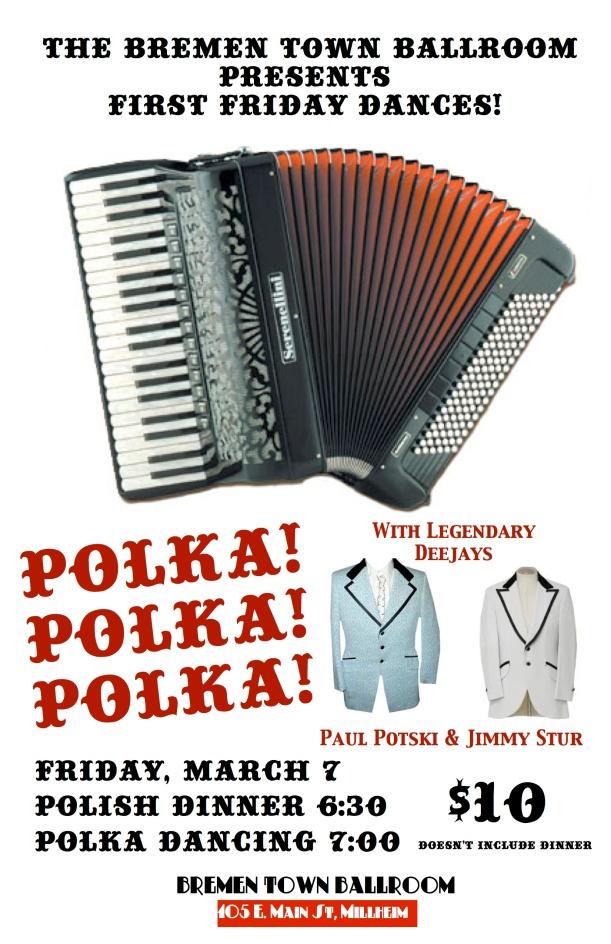 Poster for Friday's Polka Dance